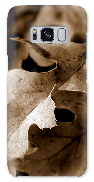 Leaf Study In Sepia IIi Galaxy Case