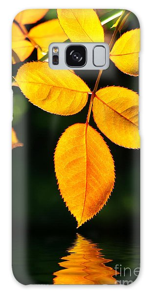 Leafs Over Water Galaxy Case