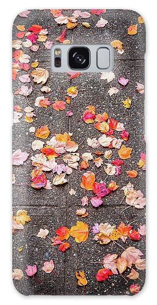 Leafy Autumn Walk Galaxy Case