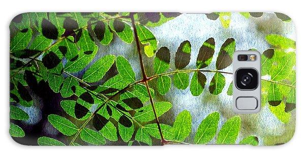 Leafy Textures Galaxy Case