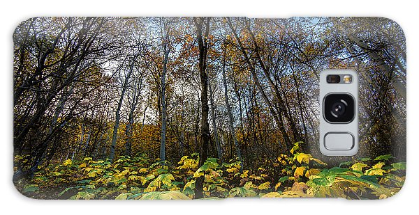 Leafy Yellow Forest Carpet Galaxy Case