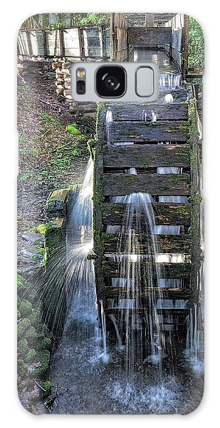 Galaxy Case featuring the photograph Leaky Mill Wheel by Alan Raasch
