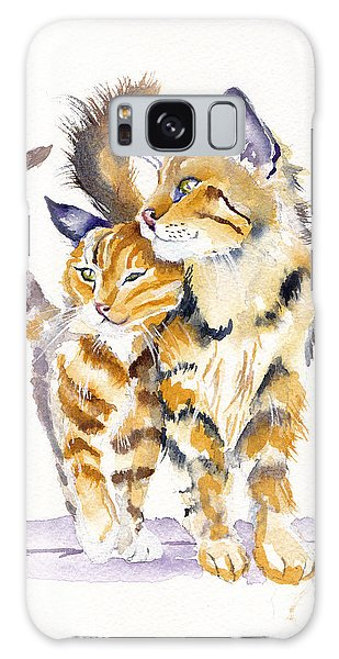 Cat Galaxy S8 Case - Lean On Me by Debra Hall