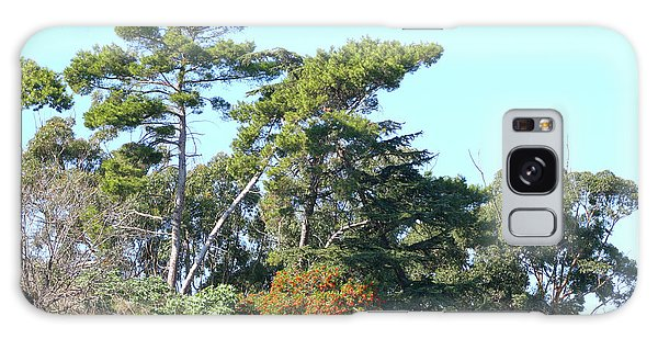 Leaning Trees On Hillside Galaxy Case