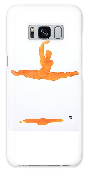 Leap Brush Orange 1 Galaxy Case