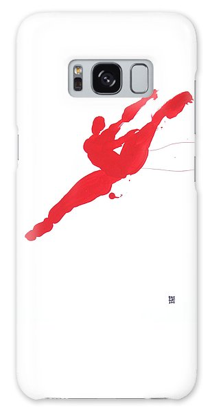 Leap Brush Red 3 Galaxy Case by Shungaboy X