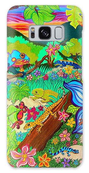 Salamanders Galaxy S8 Case - Leapin Lizards by Nick Gustafson
