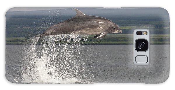 Leaping Bottlenose Dolphin  - Scotland #39 Galaxy Case