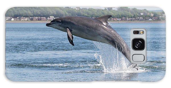 Galaxy Case featuring the photograph Leaping Dolphin - Moray Firth, Scotland by Karen Van Der Zijden