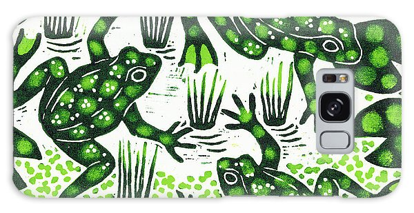 Wild Animals Galaxy Case - Leaping Frogs by Nat Morley