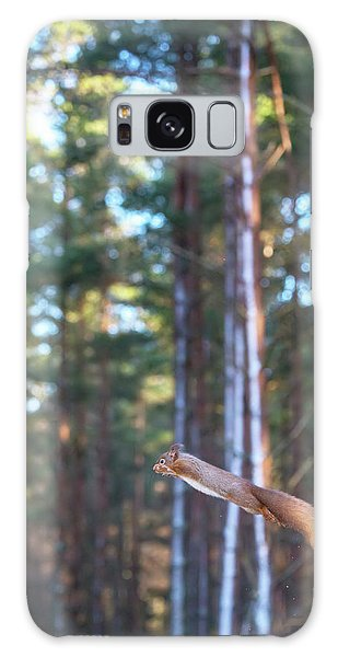 Leaping Red Squirrel Tall Galaxy Case