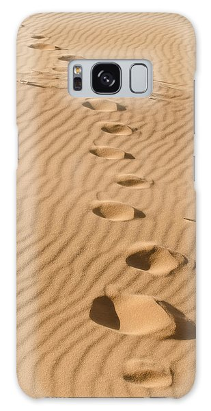 Leave Only Footprints Galaxy Case by Heather Applegate