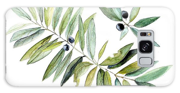 Leaves And Berries Galaxy Case