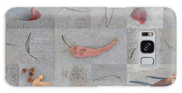Leaves And Cracks Collage Galaxy Case by Ben and Raisa Gertsberg