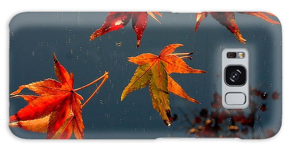 Leaves Falling Down Galaxy Case by Marie Neder