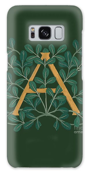 Leaves Letter A Galaxy Case
