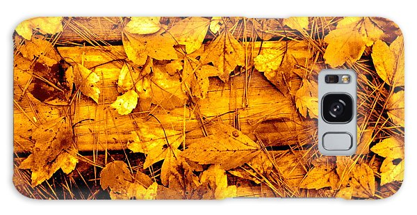 Leaves Of Sepia Galaxy Case by Cathy Dee Janes