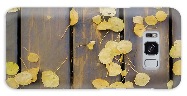 Leaves On Planks Galaxy Case
