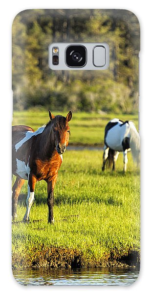 Leaving The Chincoteague Ponies Galaxy Case