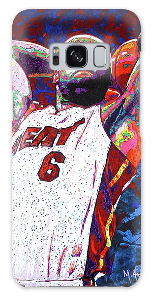 B B King Galaxy Case - Lebron Dunk by Maria Arango