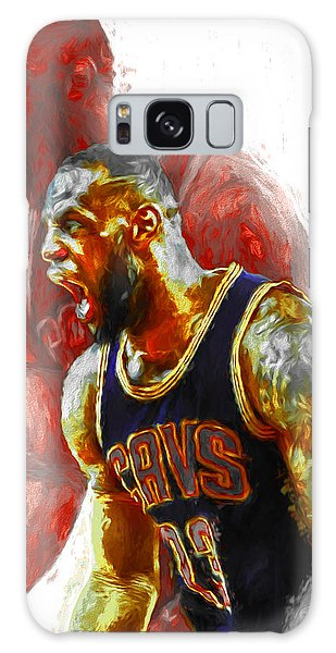 Lebron James 23 1 Cleveland Cavs Digital Painting Galaxy Case