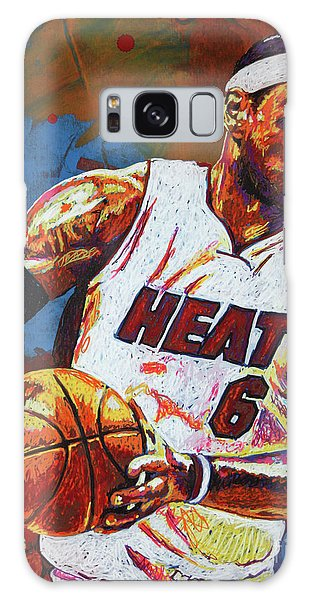 B B King Galaxy Case - Lebron James 3 by Maria Arango