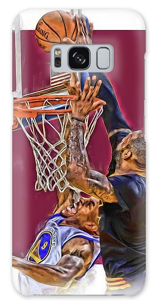 Basketball Galaxy Case - Lebron James Cleveland Cavaliers Oil Art by Joe Hamilton