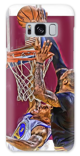 Basket Galaxy Case - Lebron James Cleveland Cavaliers Oil Art by Joe Hamilton