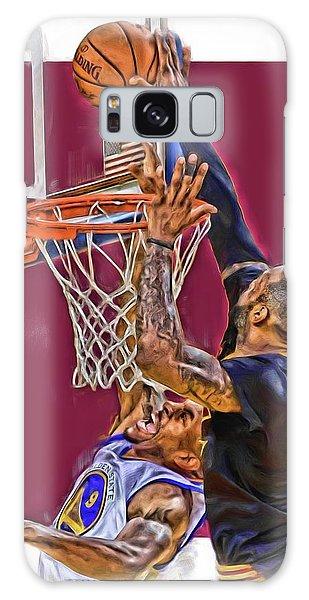 Iphone Case Galaxy Case - Lebron James Cleveland Cavaliers Oil Art by Joe Hamilton
