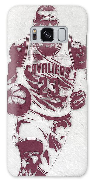 Lebron James Cleveland Cavaliers Pixel Art 4 Galaxy Case