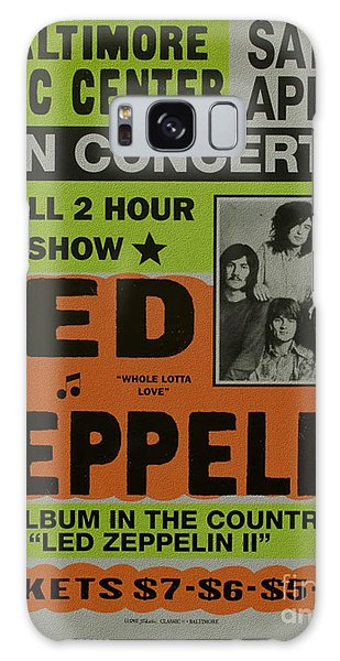 Led Zeppelin Live In Concert At The Baltimore Civic Center Poster Galaxy Case by R Muirhead Art