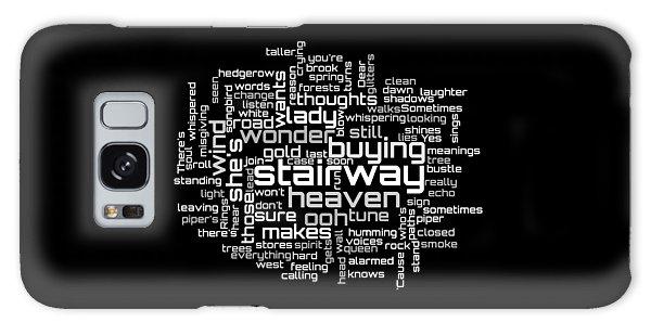 Led Zeppelin - Stairway To Heaven Lyrical Cloud Galaxy Case