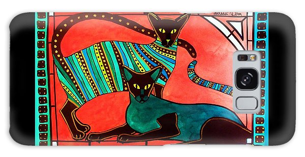 Legend Of The Siamese - Cat Art By Dora Hathazi Mendes Galaxy Case by Dora Hathazi Mendes