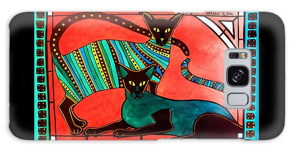 Legend Of The Siamese - Cat Art By Dora Hathazi Mendes Galaxy Case