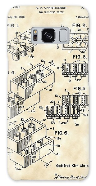 Lego Patent 1958 - Vintage Galaxy Case by Stephen Younts