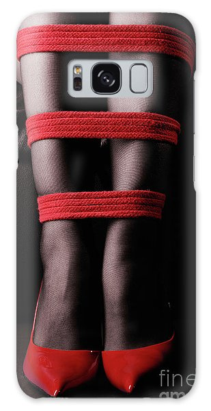 Legs In Red Ropes Galaxy Case