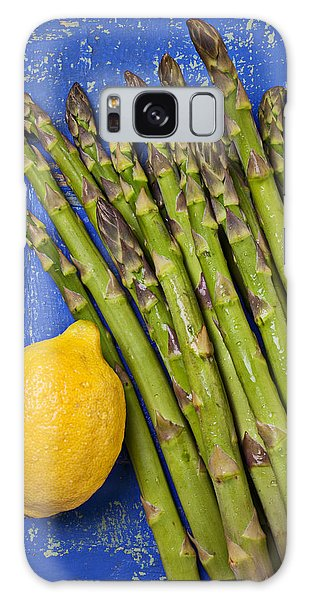 Lemon And Asparagus  Galaxy Case by Garry Gay