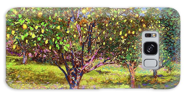 Florida Galaxy Case - Lemon Grove Of Citrus Fruit Trees by Jane Small