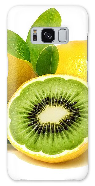 Galaxy Case featuring the digital art Lemon Kiwi by ISAW Company