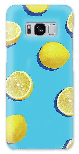 Yellow Galaxy Case - Lemon Pattern by Rafael Farias