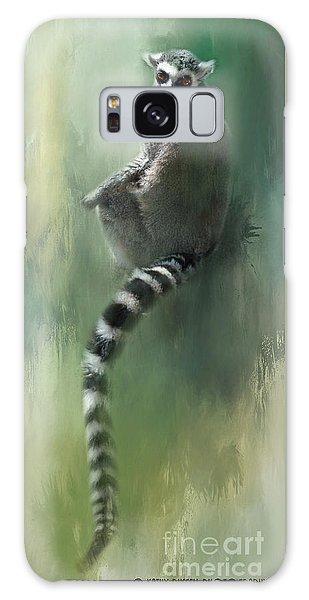 Lemur Catching Rays Galaxy Case