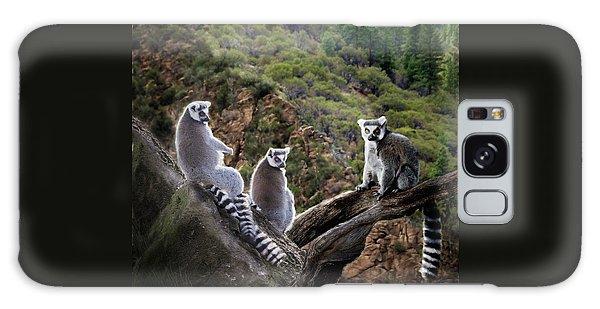 Lemur Family Galaxy Case by Melinda Hughes-Berland