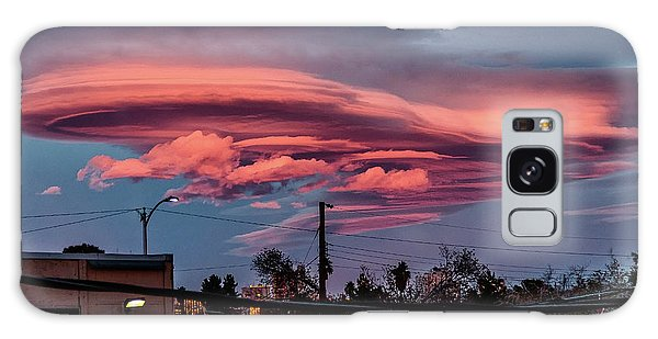 Galaxy Case featuring the photograph Lenticular Cloud Las Vegas by Michael Rogers