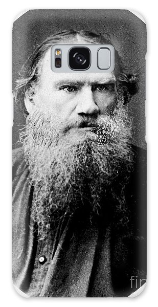 Leo Tolstoy Galaxy Case by Pg Reproductions