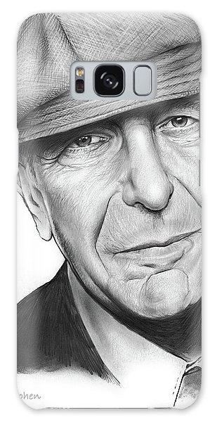 Leonard Cohen Galaxy Case by Greg Joens