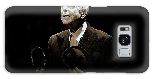 Portrait Of Leonard Cohen Galaxy Case