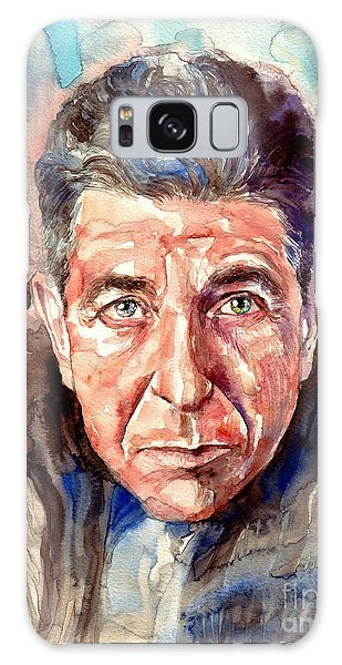Rolling Stone Magazine Galaxy S8 Case - Leonard Cohen Painting by Suzann's Art