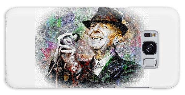 Leonard Cohen - Tribute Painting Galaxy Case by Ian Gledhill