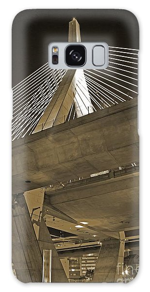 Leonard P. Zakim Bunker Hill Bridge In Sepia Galaxy Case