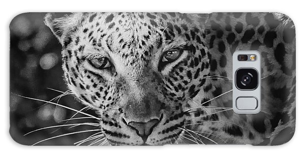 Leopard, Black And White Galaxy Case